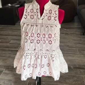 "kate spade new york ""spice things up"" eyelet top."